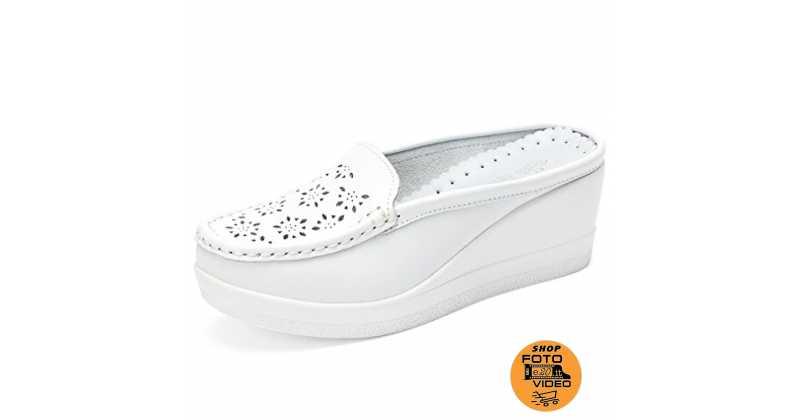 find Soft Leather Slipper 37 EU Marchio Bone Mocassino Donna Avorio