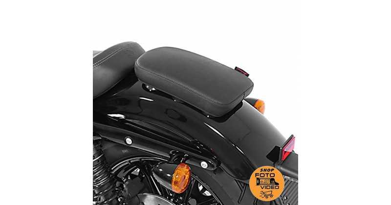 Sellino Passeggero con Ventose per Harley Davidson Sportster 1200 Sport XLH 1200 S Craftride Glider X nero