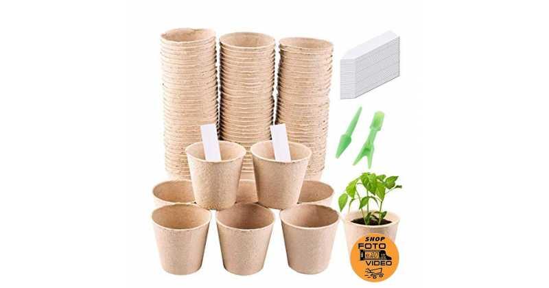 per uso in negozi domestici con kit di spargimento completo e copertura traspirante regolabile Vassoi di germinazione per serre con 12 fori 5 pezzi