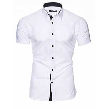 Casual//Formale Sia Disponibile Manica Lunga Slim Fit INFLATION Camicia Elastica Uomo pi/ù Colori tra Cui Scegliere