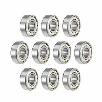 4 x 7 x 2,5 cm ad alta precisione MR74ZZ in metallo schermato ABEC-5 L-740ZZ Confezione da 10 cuscinetti a sfera in miniatura