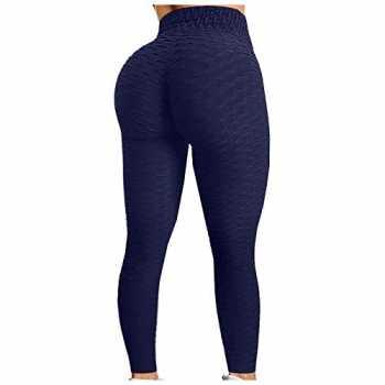 HLTPRO Pantaloni da Yoga a Vita Alta da Donna Corsa Leggings Elasticizzati in 4 direzioni con Tasche per Allenamento