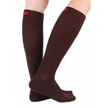 gravidanza +MD 6 paia di calze a compressione in cotone Calze a compressione per donna e uomo per infermiere