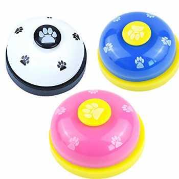 DXIA 3X Campana per Campanello Vasino Formazione e Comunicazione Giocattoli Interattivi Tempo di Alimentazione Dog Call Bells Campana per Animali Domestici Campane da Addestramento per Cane