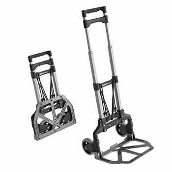 Ferrestock FSKCAR002 Carrello da magazzino professionale realizzato in acciaio rinforzato con ruote pneumatiche portata fino a 150 kg