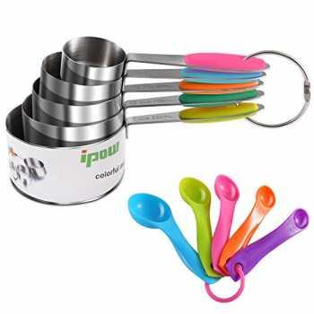Tazza di misura a 2 pezzi 2,5 once di acciaio inossidabile Sonku 75 ml 5 cucchiai di cocktail jiggers e cucchiaio da miscelazione a 2 pezzi con punta di forchetta laterale