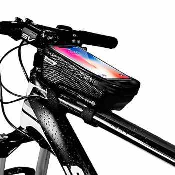 ROCKBROS Borsa Telaio Impermeabile Bici MTB Doppia Cerniera Design Borsa Tubo Anteriore per Bicicletta Grande capacit/à 1L//1.6L Velcro Regolabile